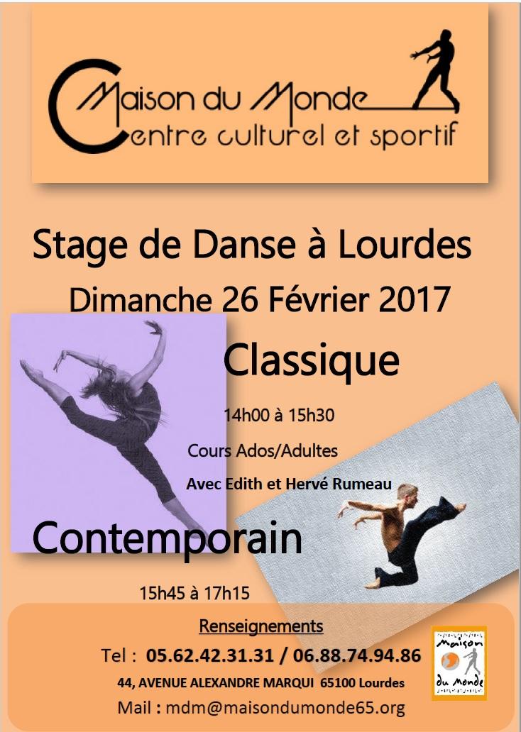 Affiche stage Classique&Contemporain2017